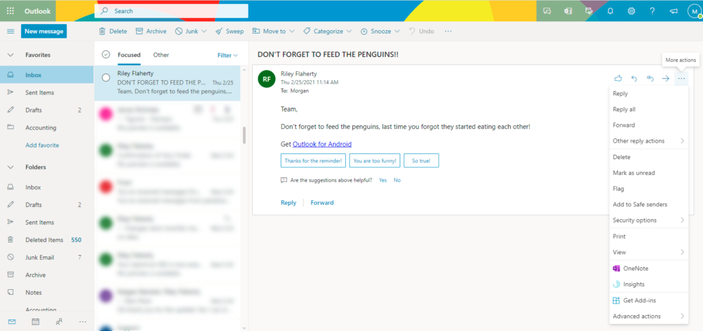 flagged email as task in Microsoft To Do